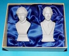 Poole pottery ornament 'Charles & Princess Diana' Busts 1 Quality LTD BOXED