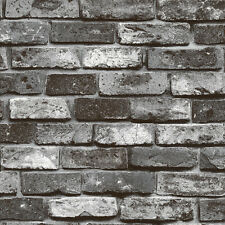10M Roll Wallpaper Grey Realistic Real Look Brick Stone Vinyl Texture Background