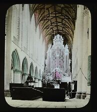 Dutch Colour Glass Magic Lantern Slide Haarlem Groote Kerk Netherlands
