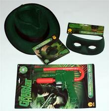 GREEN HORNET Superhero Fedora Hat Mask Gun Pistol MENS COSTUME SET O/S New