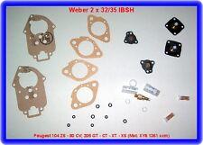 Weber 2x32/35 IBSH,Peugeot 104 ZS-80 CV;205 GT-CT-XT-XS