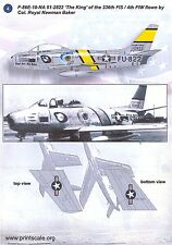Print Scale Decals 1/48 NORTH AMERICAN F-86 SABRE JET Part 1