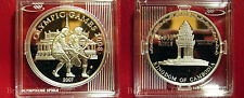 2007 Cambodia Large Silver Proof  3000 Riels Olympic Field Hockey
