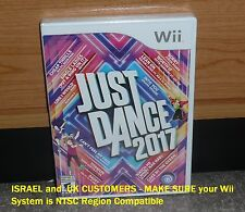 Nintendo Wii - JUST DANCE 2017 (Brand NEW Sealed) NTSC Release FUN Family Game