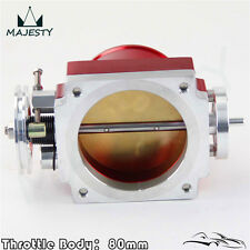 80MM Universal Intake Manifold CNC Billet Aluminum Throttle Body Red