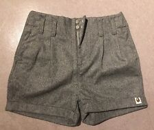 A BATHING APE WOOL SHORTS XS GRAY LADIES GIRLS NEW BAPE shark camo shirt
