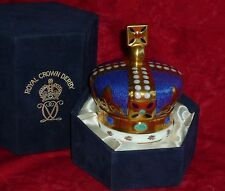 Royal Crown Derby    CROWN    Paperweight   1990 ONLY  Rare
