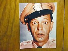 DON KNOTTS(Died-2006)(Andy Griffith/Barney Fife) Signed 8 X10 Glossy Color Photo