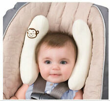 Infant CRA- head support for newborn baby car seat stroller- (white)