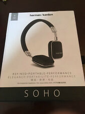 Harman Kardon Soho Foldable On-Ear Leather Mini Headphones - Black for iOS