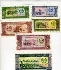 SET Lao / Laos, 1;5;10;20;50;100 Kip, ND (1979), Picks 25-26-27-28-29-30 UNC