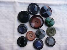12 boutons vintage de collection