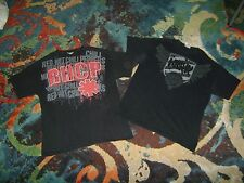 LINKIN PARK Red Hot Chili Peppers 2 LARGE T-Shirt LOT Rock METAL Very Good RHCP