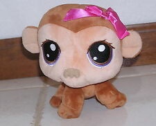 Littlest Pet Shop Plush Bobblehead Monkey with Pink Bow