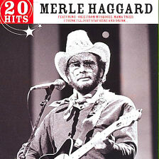 Merle Haggard ~ 20 Hits NEW AND SEALED CD Fightin' side of me,Okie from Muskogee
