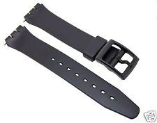 17 mm Black Standard Swatch Replacement Band/Strap/Free Shipping Worldwide