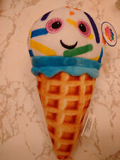 WAFFLE CONE ICE CREAM VANILLA WITH COLORFUL SPRINKLES 8 INCHES SMILEY FACE DIET