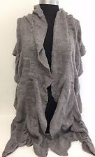 NEW Women Winter Warm Knit Wool Long Scarf SHAWL Wrap Stole Soft Solid Gray