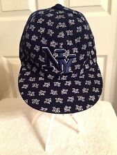 NEW YORK NY Sports Baseball Hat Cap~NAVY BLUE and White~ Fitted~ Sz 7 1/8