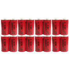 16 pcs D Size 10000mAh 1.2V Ni-MH Rechargeable Battery Cell Toy Red US Stock