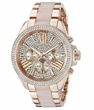 Michael Kors MK6096 Wren Blush Rose Gold Crystal Ladies Watch