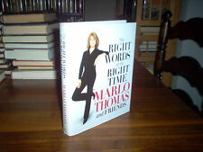 The Right Words at the Right Time by Marlo Thomas (signed)