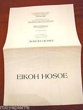 Eikoh Hosoe invito all'inaugurazione 11 dicembre 2002 Mostra Carla Sozzani Milan