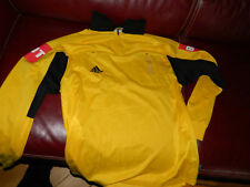 ADIDAS taille L MAILLOT de FOOTBALL d'arbitre JAUNE marque BUT yellow shirt