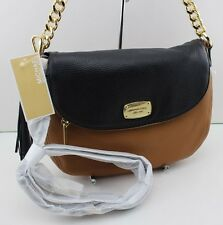 NEW AUTHENTIC MICHAEL KORS BEDFORD ACORN BLACK MD CONVERTIBLE SHOULDER HANDBAG