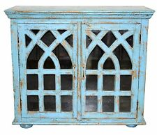 Recycled Timber Glass Shabby Chic French Provincial  Sideboard Cabinet Vanity