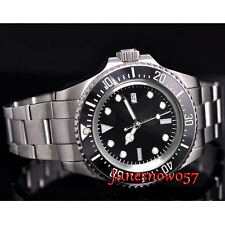 Parnis 44mm Black dial date ceramic bezel SEA Automatic movement men's watch P65