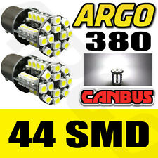 2X WHITE 44-LED [BAY15D,380,1157,P21/5W] 12V BULBS STOP/BRAKE LIGHT BULBS