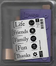 Stampin Up Retired Make It Count Set of 10 Unmounted Wood Rubber Stamps NEW