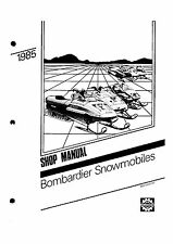 Bombardier service shop manual 1985 SAFARI 377 E & 1985 SAFARI 447