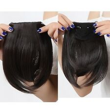 "New 8"" As Human Hair Clips In Extensions Front Bang Fringe More Colors 30g/pcs"