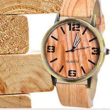 """* envío rápido * elegantes reloj de pulsera con """"madera-Design"""" Quartz Wood watch * nuevo *"""