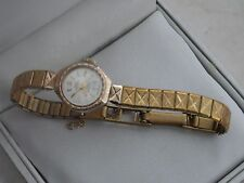SWISS EMPRESS Vintage Marked 9ct Yellow Gold Watch With Rolled Gold Strap 12.2gr