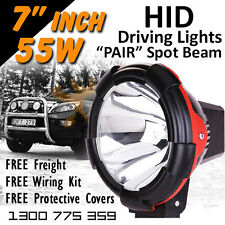 HID Xenon Driving Lights - Pair 7 Inch 55w Spot Beam 4x4 4wd Off Road 12v 24v
