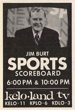 1975 TV AD~JIM BURT/SPORTS on KELO in SIOUX FALLS,SOUTH DAKOTA