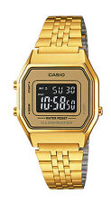 Casio LA680WGA-9B Women's Vintage Gold Tone Chronograph Alarm Digital Watch
