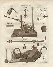 1797 georgiano impresión ~ Mineralogía aparatos Equipos Bellows