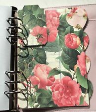 Filofax A5 Organiser Planner - Pink Rose & Heart Dividers & Marker - Laminated
