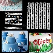 6PCS Alphabet & Number Letter Cake Decorating Set Icing Fondant Cutter SET Mould