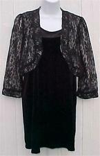Misses Size Small Black Lace Jacket & Velour Dress NY Connection New Tags