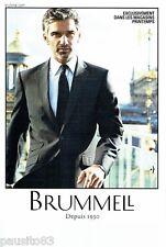 PUBLICITE ADVERTISING 116  2011  Brummel costume homme magasin Le Printemps