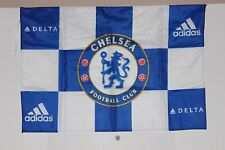 "CHELSEA FC CLUB FLAG BANNER 34"" x 24"" with BADGE PIN 2013 NEW YORK ST LOUIS TOUR"