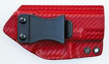 "Smith & Wesson M&P 4.25"" IWB Appendix Carry Kydex Gun Holster Red Carbon Fiber"