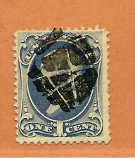 1800s US Stamp w/ Fancy Cancels:  Negatively-Inscribed STAR ~ Free Shipping..T8