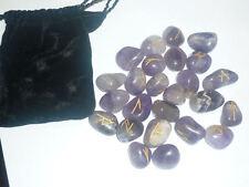 SET RUNE CELTICHE AMETISTA A+ EBOOK cd wicca cristalloterapia gemme divinazione