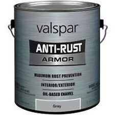 NEW GALLON VALSPAR 4029534 GLOSS GRAY ANTI-RUST INDUSTRIAL ENAMEL OIL PAINT